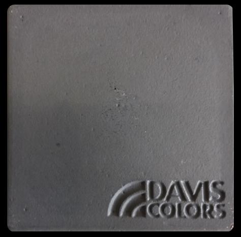 Sample tile colored with Davis Colors Jet Black Iron Oxide concrete pigment